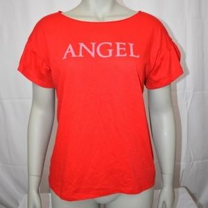 Victoria's Secret Red ANGEL Short Sleeved T-Shirt